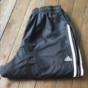 Adidas ClimaProof Black White Jogging Pants Med